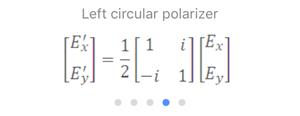 Jones Matrix: Left Circular Polarizer