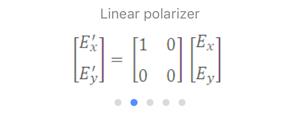 Jones Matrix: Linear polarizer