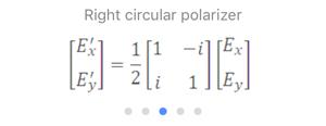 Jones Matrix: Right Circular Polarizer