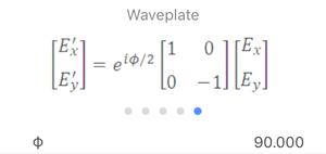 Jones Matrix: Waveplate